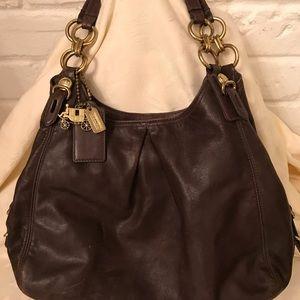 Vintage Coach brown leather bag (OLCC)